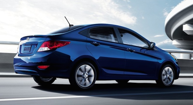 2018 Hyundai Accent Sedan blue rear