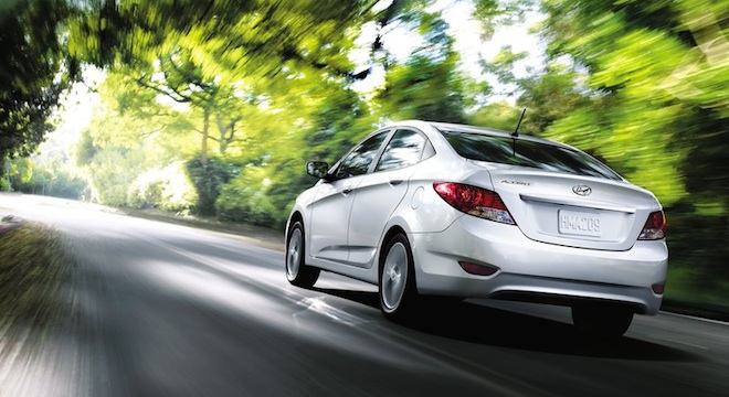 2018 Hyundai Accent Sedan silver rear