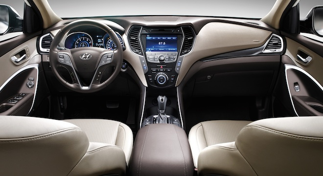 2018 Hyundai Grand Santa Fe dashboard