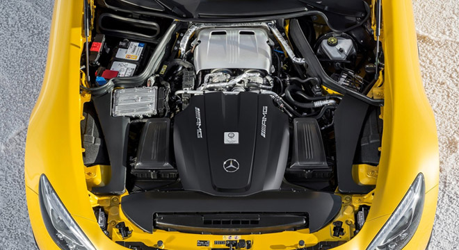 2018 Mercedes-Benz AMG GT engine