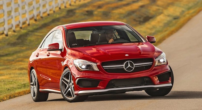 2018 Mercedes-Benz CLA-Class red