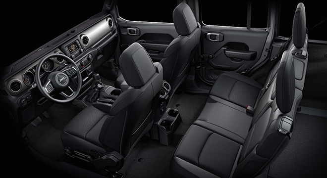 2019 Jeep Wrangler Unlimited Sport JL interior