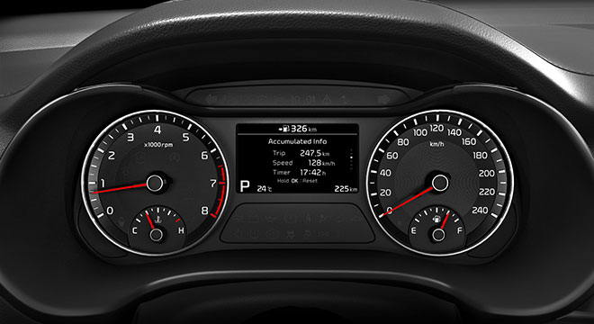 2019 Kia Forte interior gauge cluster
