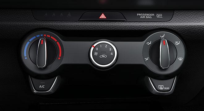 2019 Kia Rio Interior climate controls