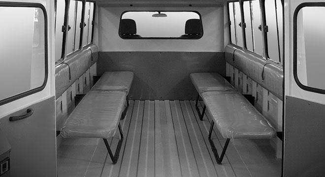 2020 Kia K2500 interior van seats