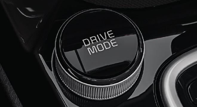 2020 Kia Seltos interior drive mode selector