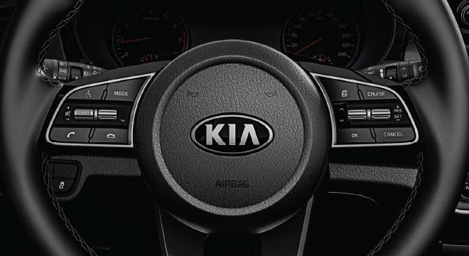2020 Kia Seltos interior steering wheel