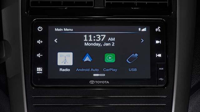 2020 Toyota Wigo new 7-inch infotaiment system