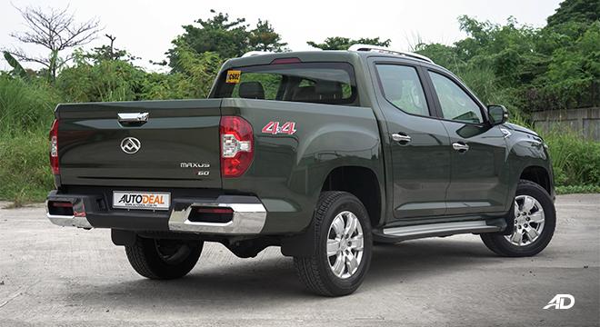 2021 Maxus T60 exterior quarter rear Philippines
