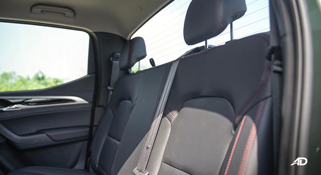 2021 Maxus T60 interior rear seats Philippines