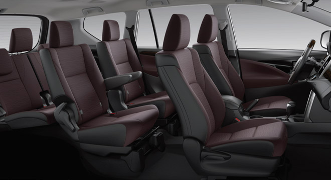 2021 Toyota Innova interior seating layout Philippines