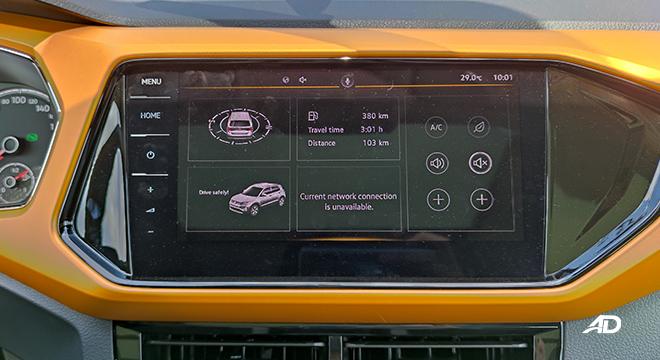 2021 Volkswagen T-Cross interior infotainment system Philippines