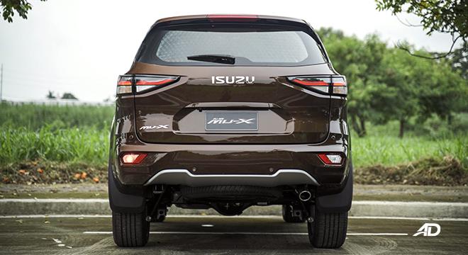 2022 Isuzu mu-X exterior rear Philippines