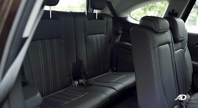 2022 Isuzu mu-X interior rear seats Philippines