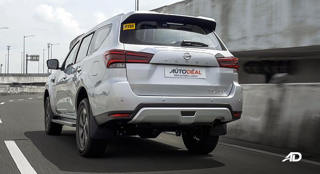 2022 Nissan Terra exterior quarter rear Philippines