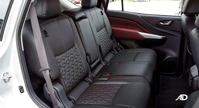 2022 Nissan Terra interior second-row seats Philippines