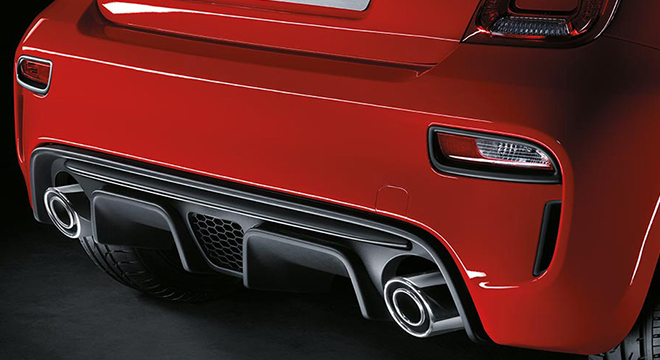 Abarth 595 2019 rear bumper