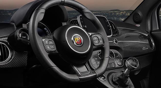 Abarth 659 Rivale 2019 steering wheel