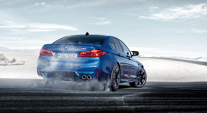 BMW M5 with M xDrive 2018 drift