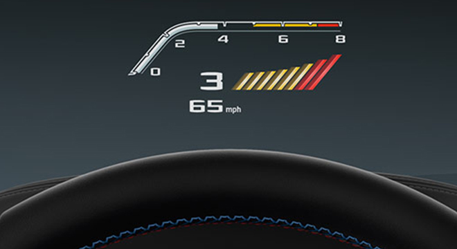 BMW M5 with M xDrive 2018 HUD