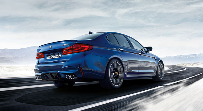 BMW M5 with M xDrive 2018 rear