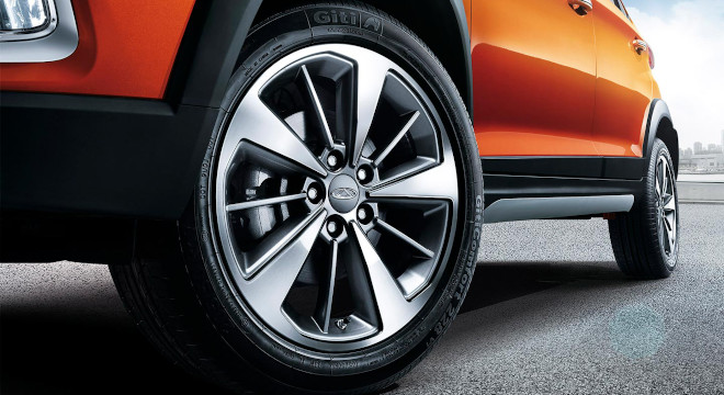 Chery Tiggo 2 Exterior 16-inch two tone alloy wheels Philippines