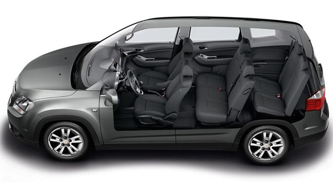 Chevrolet Orlando 2018 seats