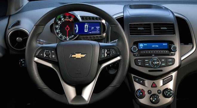 Chevrolet Sonic Hatchback dashboard