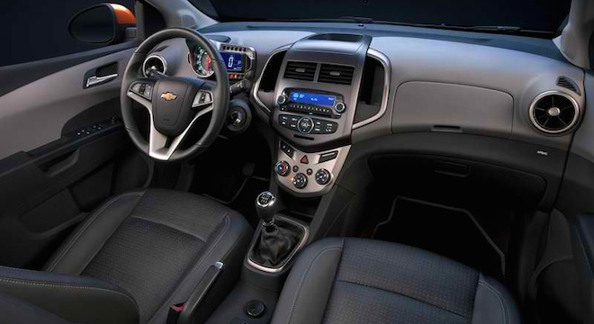 Chevrolet Sonic Hatchback interior