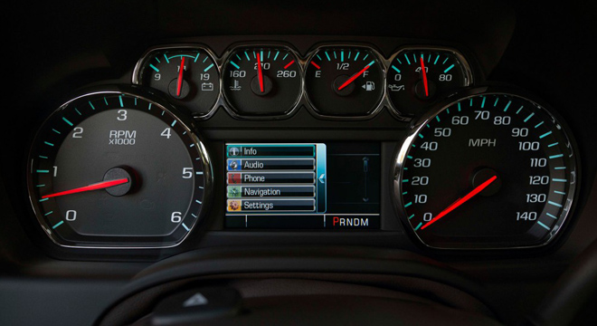 Chevrolet Suburban 2018 instrument cluster