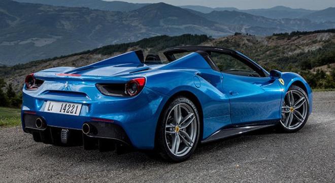 Ferrari 488 Spider 2018 rear