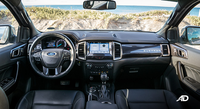 ford everest review road test dashboard interior philippines