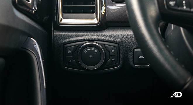 ford everest review road test headlight controls interior philippines