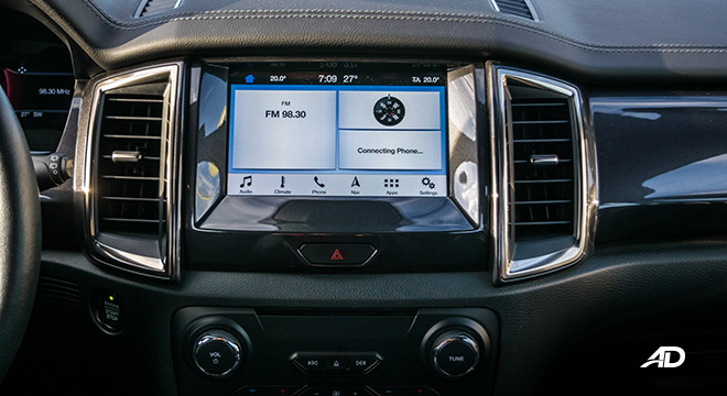 ford everest review road test infotainment head unit interior