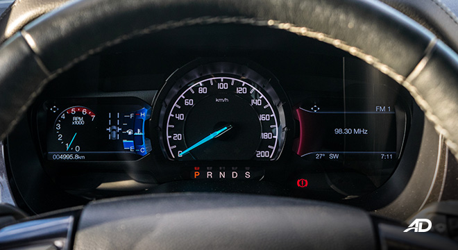 ford everest review road test instrument cluster interior