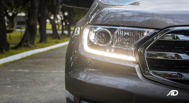 ford everest review road test LED headlights exterior philippines