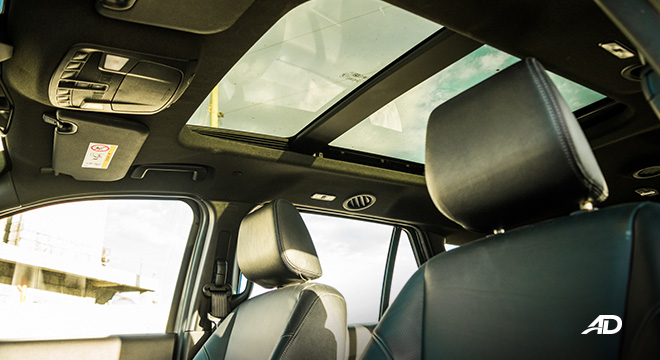 ford everest review road test panoramic sunroof interior