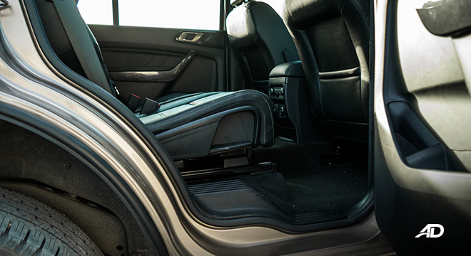 ford everest review road test second row legroom interior