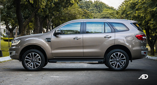 ford everest review road test side exterior philippines