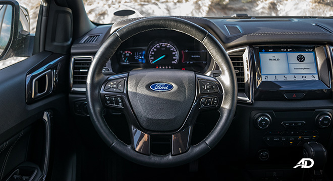 ford everest review road test steering wheel interior philippines