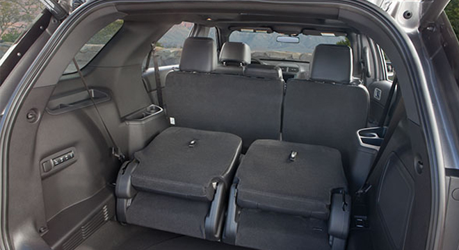 Ford Explorer 2018 trunk space