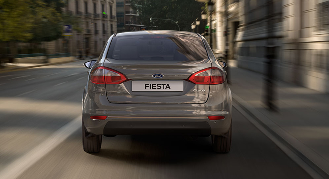 Ford Fiesta Sedan 2018 rear