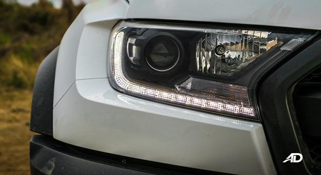 ford ranger raptor exterior road test headlights