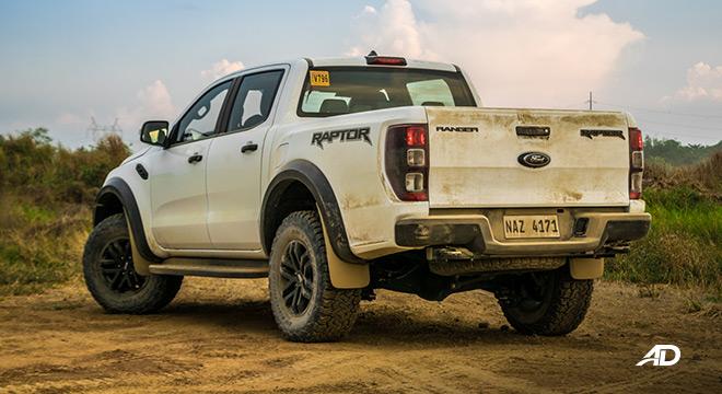 ford ranger raptor exterior road test rear philippines