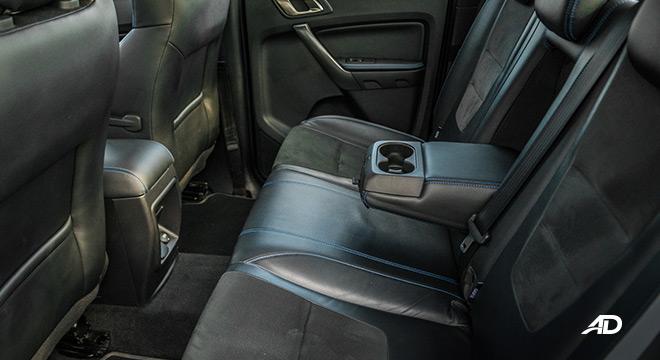 ford ranger raptor interior rear cabin