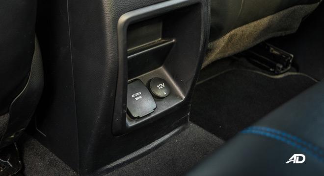ford ranger raptor interior rear outlets