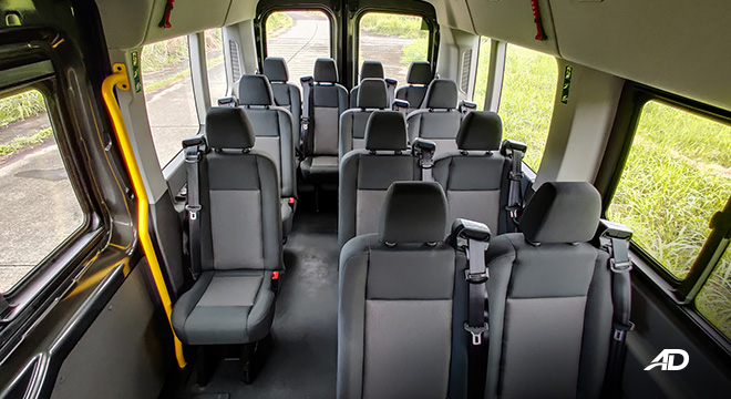 ford transit review road test cabin seats interior