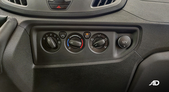 ford transit review road test climate control interior