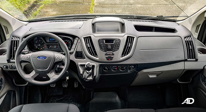 ford transit review road test dashboard interior phiippines