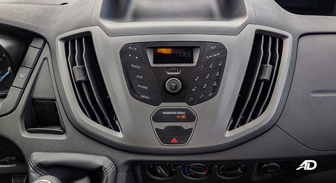 ford transit review road test head unit interior philippines